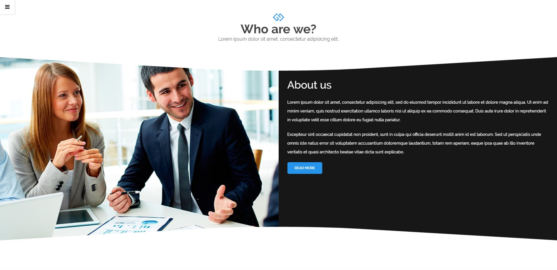 Frosten - Onepage Agency HTML5 Theme Screenshot 1