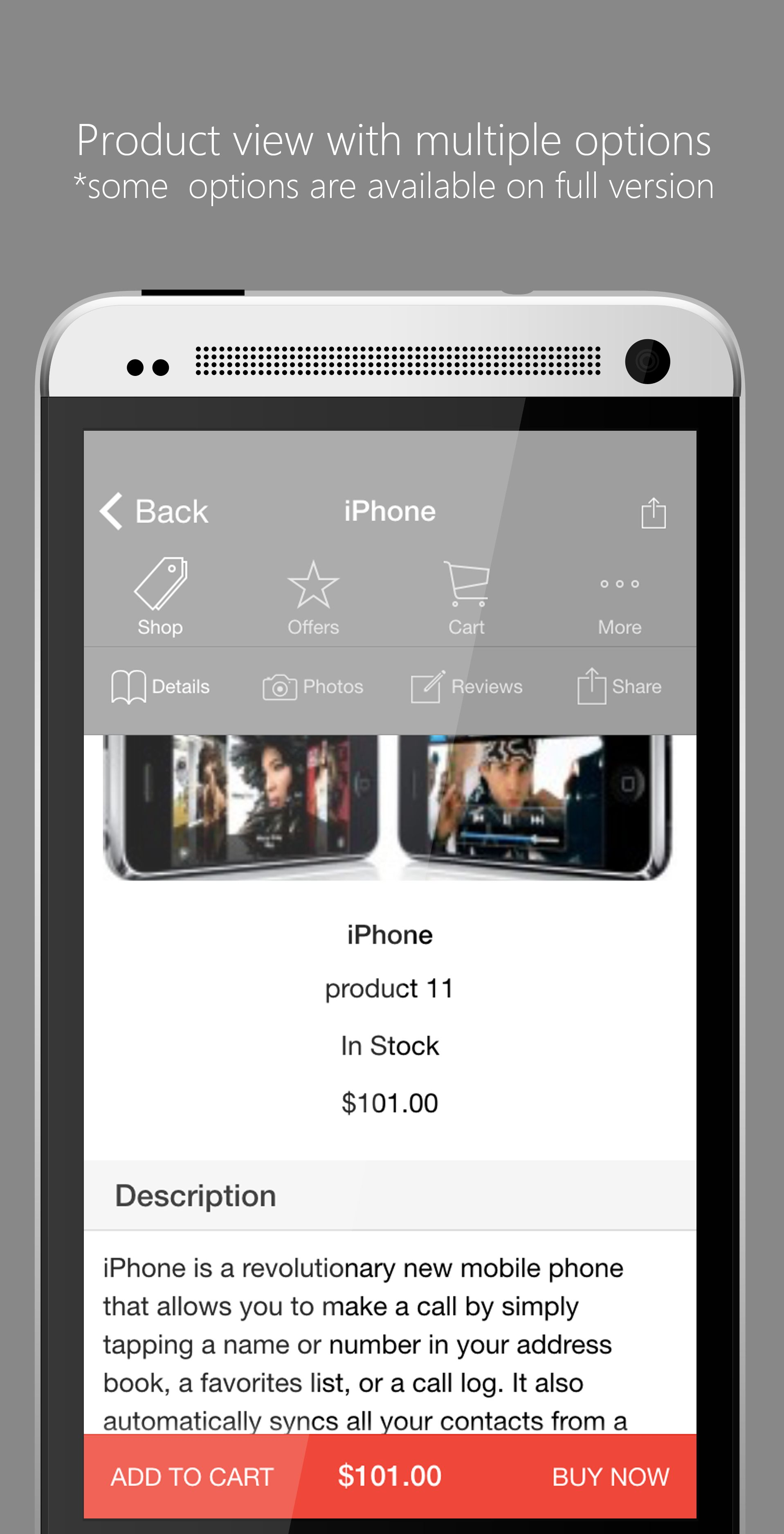 Ionic Opencart Mobile App Template - Lite Version Screenshot 3