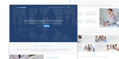 Grow Consulting - Business HTML Bootstrap Template Screenshot 2