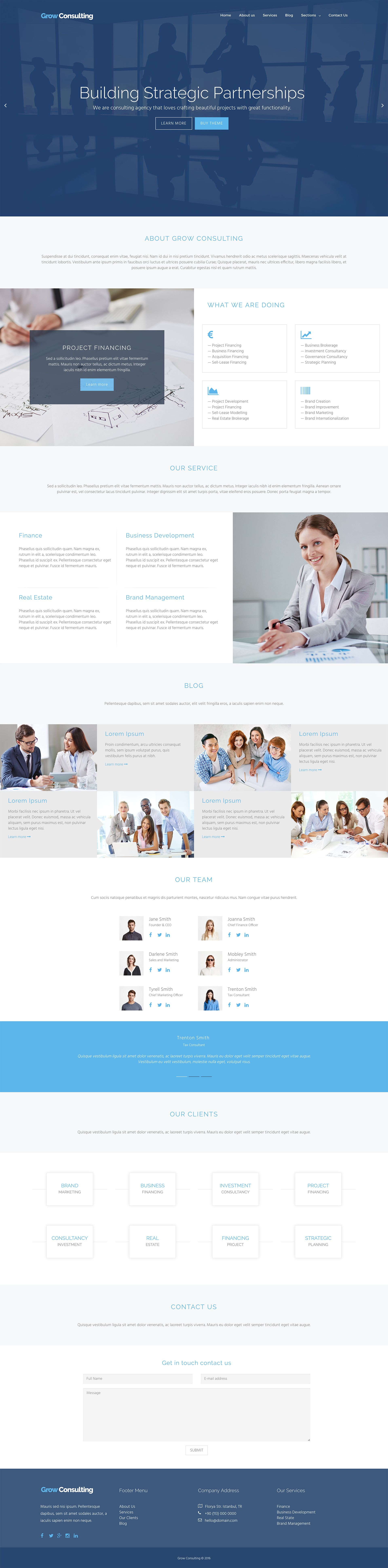 Grow Consulting - Business HTML Bootstrap Template Screenshot 3