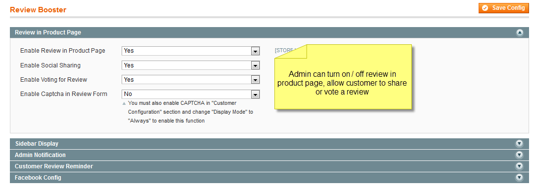 Review Booster - Magento Extension Screenshot 3