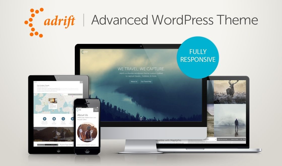 Adrift - Map Focused WordPress Theme Screenshot 1