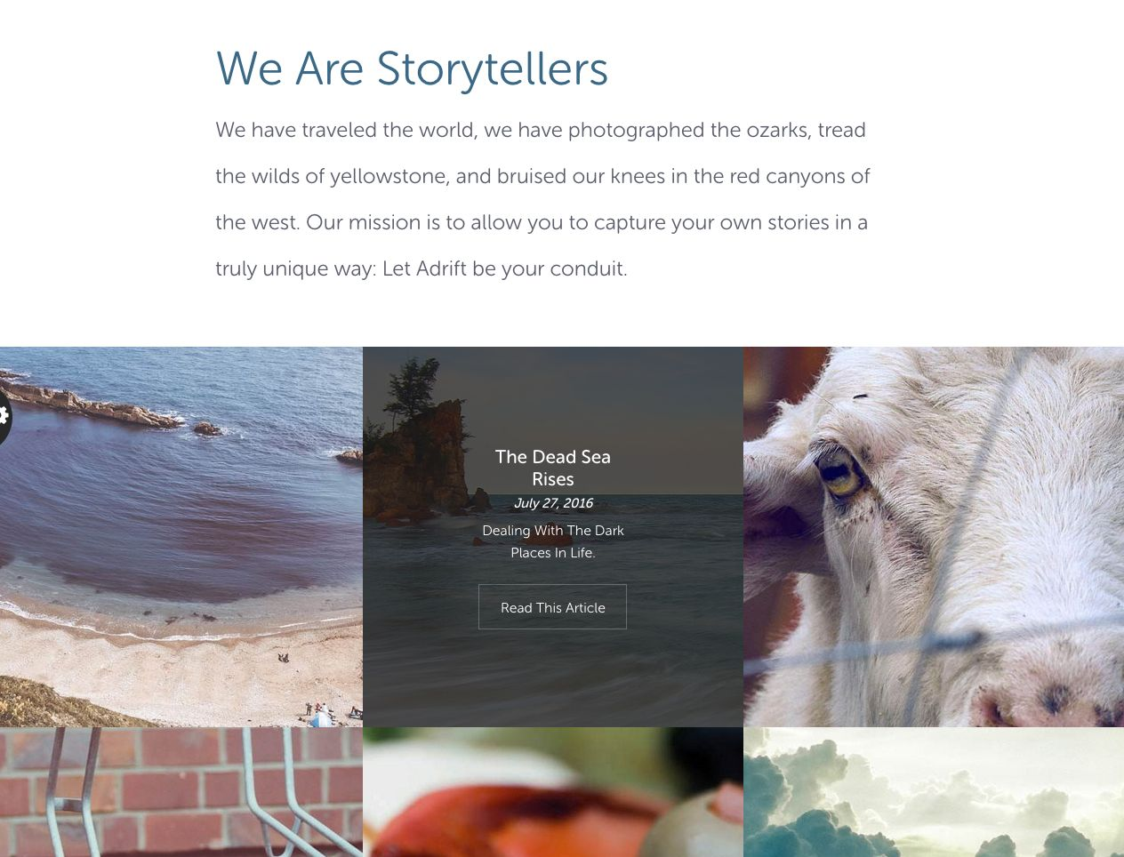 Adrift - Map Focused WordPress Theme Screenshot 2