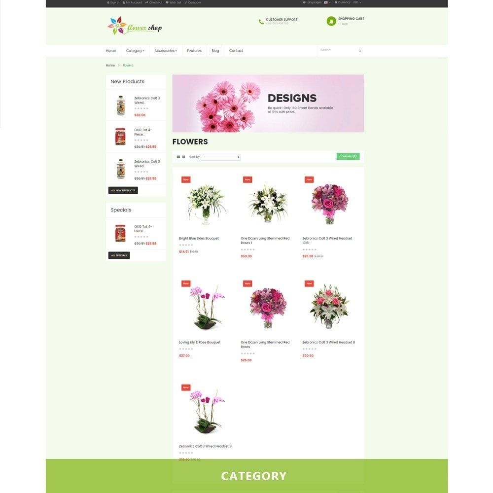 Ap Flower Shop Prestashop Theme Screenshot 1