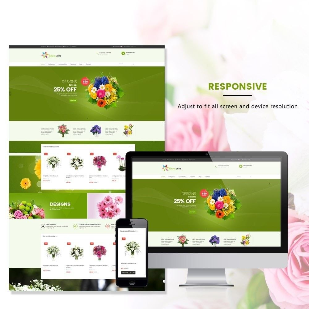 Ap Flower Shop Prestashop Theme Screenshot 3