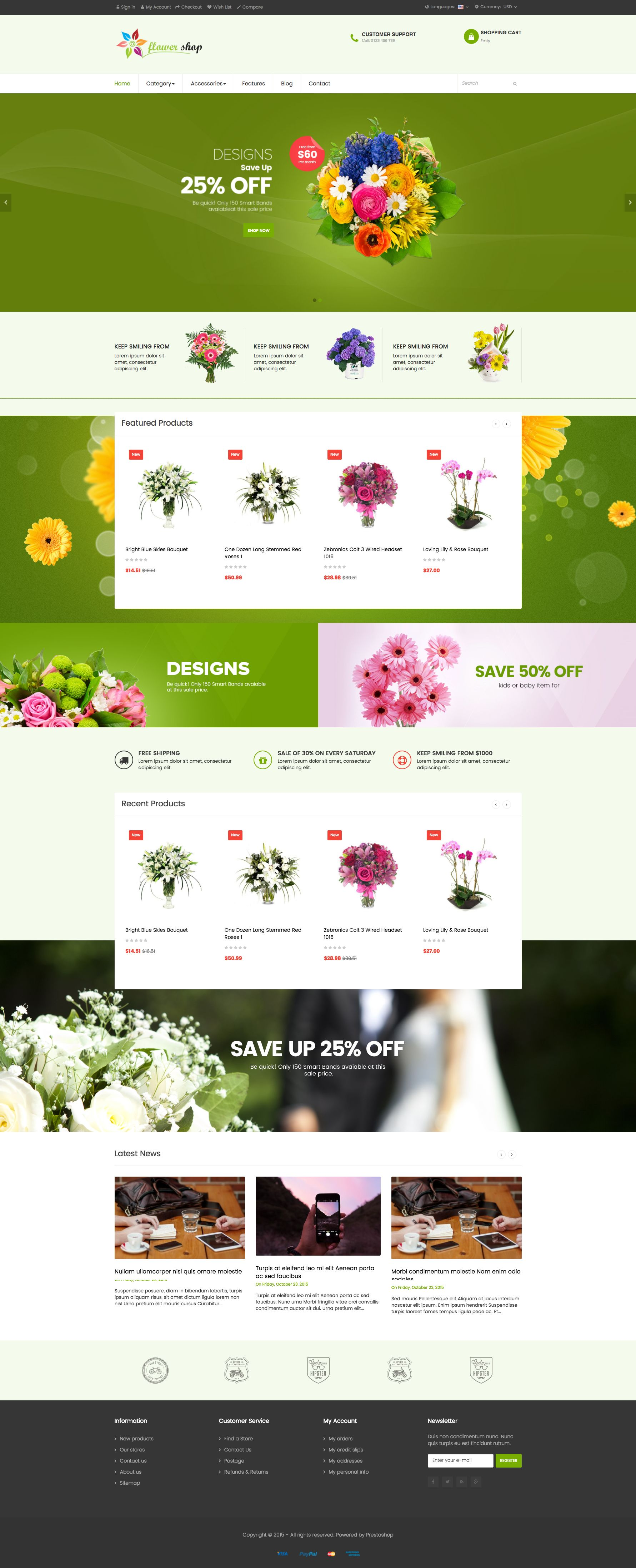 Ap Flower Shop Prestashop Theme Screenshot 4