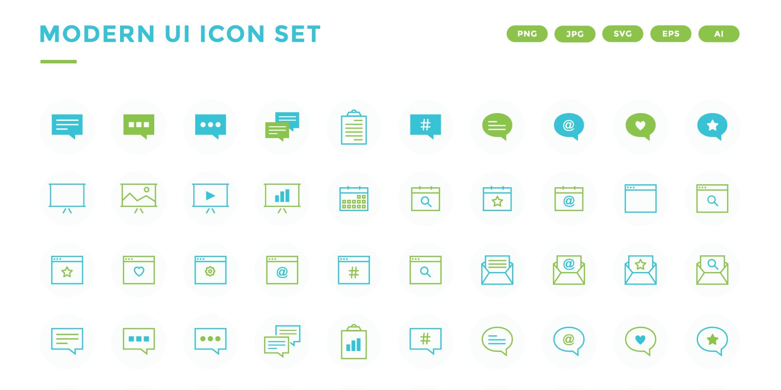Modern UI Icon Set Screenshot 1