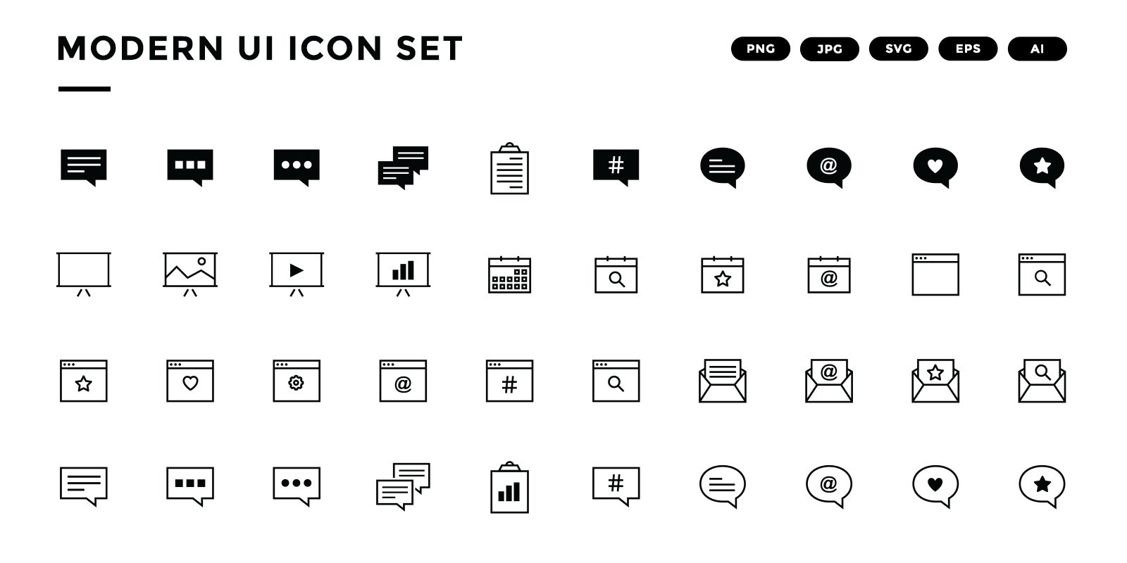 Modern UI Icon Set Screenshot 3