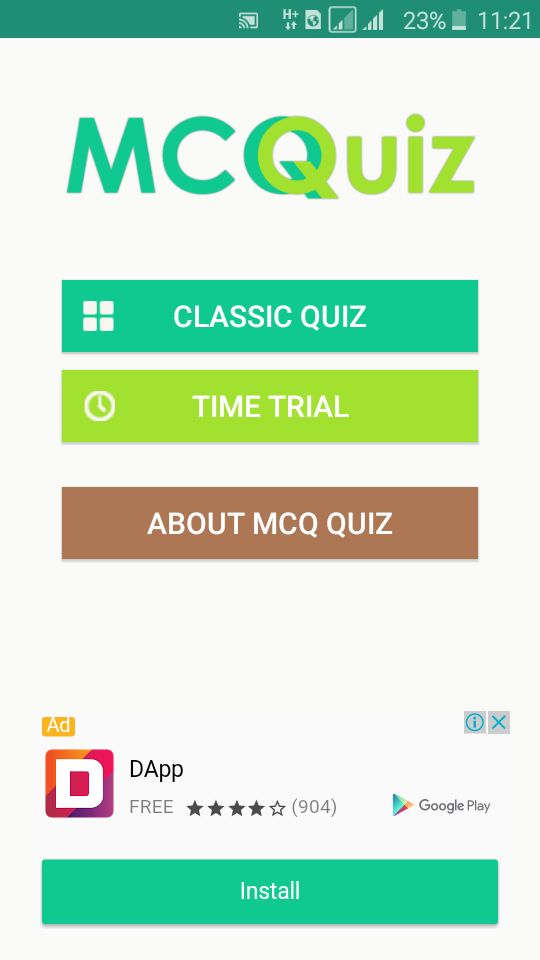MCQ Quiz   Android Quiz App Template Screenshot 3  Free Quiz Template