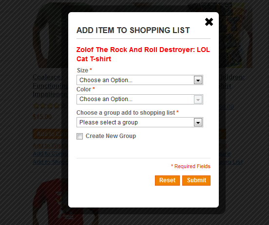 Shopping List - Magento Extension Screenshot 1