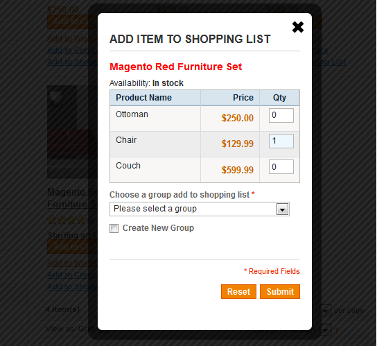 Shopping List - Magento Extension Screenshot 2