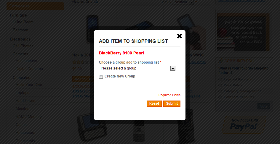 Shopping List - Magento Extension Screenshot 3
