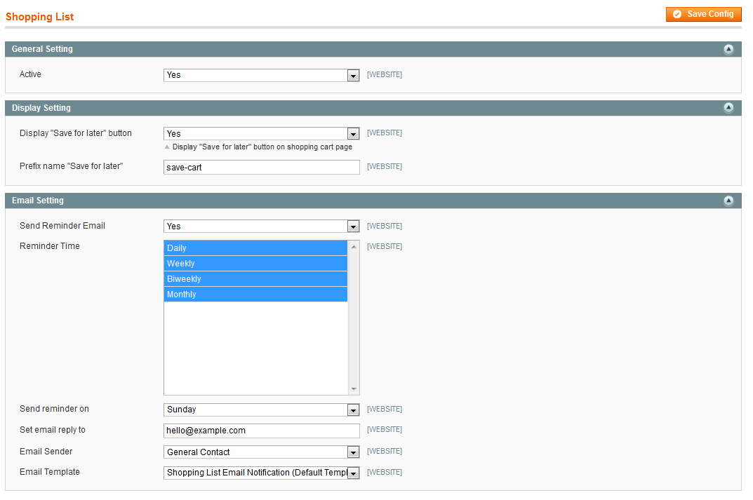 Shopping List - Magento Extension Screenshot 5