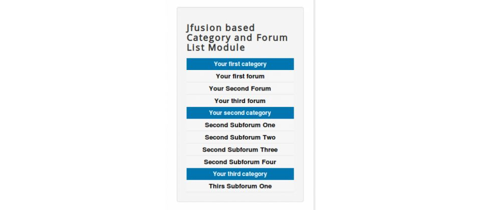 Jfusion Forum And Category Module Screenshot 2