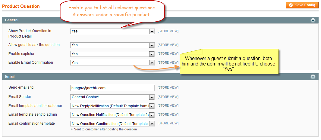 Product Question - Magento Extension Screenshot 1
