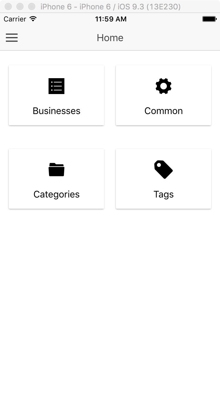 Ionic Business Directory Firebase Admin UI Screenshot 2