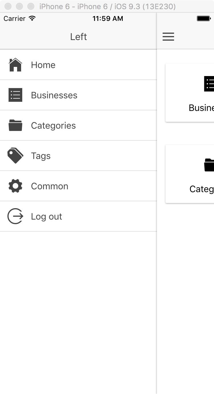 Ionic Business Directory Firebase Admin UI Screenshot 3