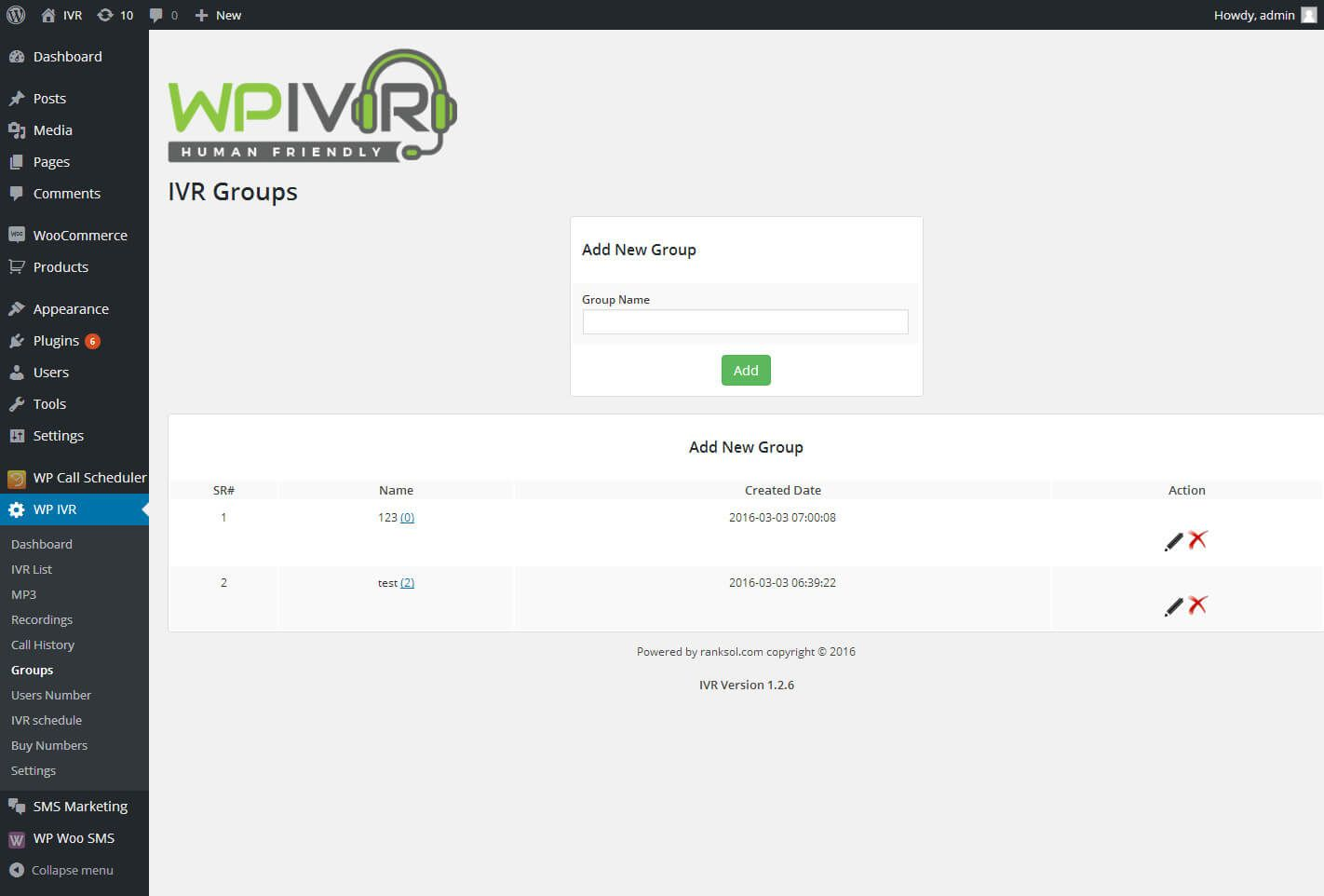 Wordpress Interactive Voice Response IVR Plugin Screenshot 7