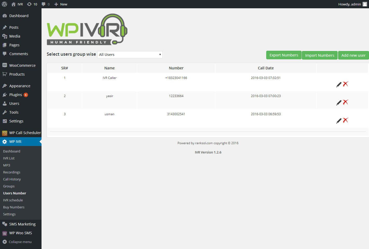 Wordpress Interactive Voice Response IVR Plugin Screenshot 9