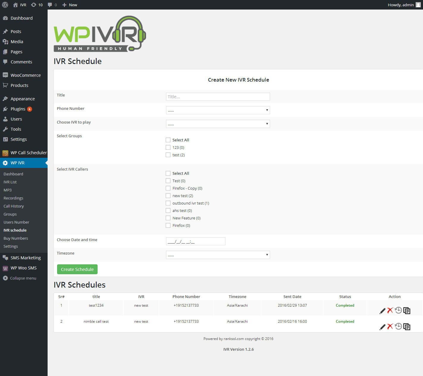 Wordpress Interactive Voice Response IVR Plugin Screenshot 11