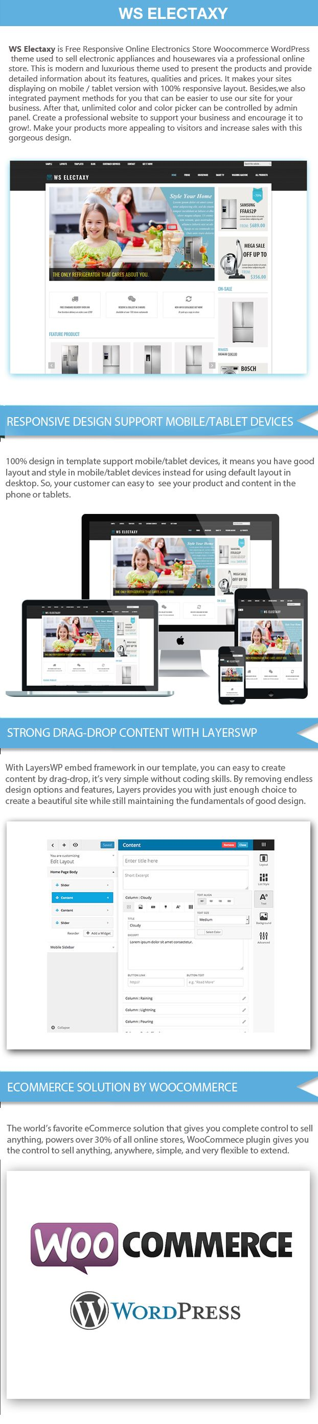 WS Electasy - Electronic Store WooCommerce Theme Screenshot 1
