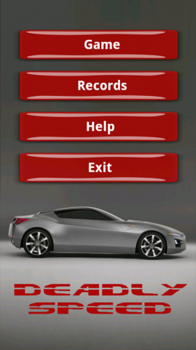 Deadly Speed Racing Game - Android Source Code Screenshot 1