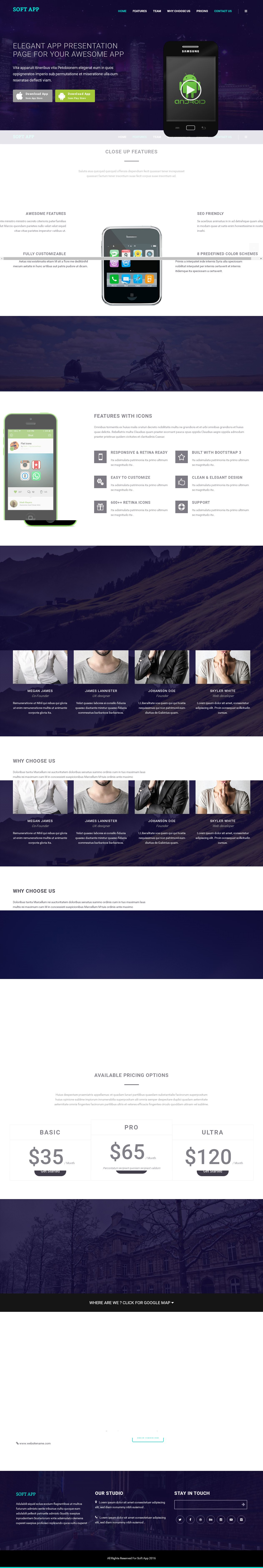 Soft App - One Page HTML Template Screenshot 1