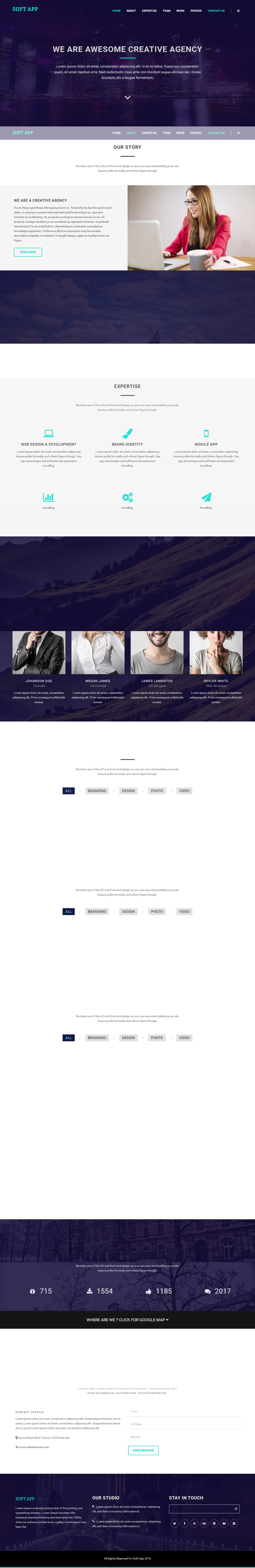 Soft App - One Page HTML Template Screenshot 2
