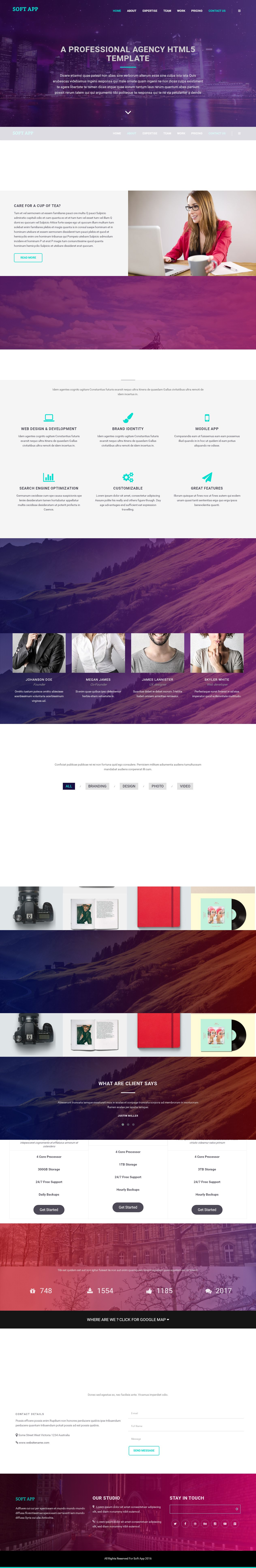 Soft App - One Page HTML Template Screenshot 3