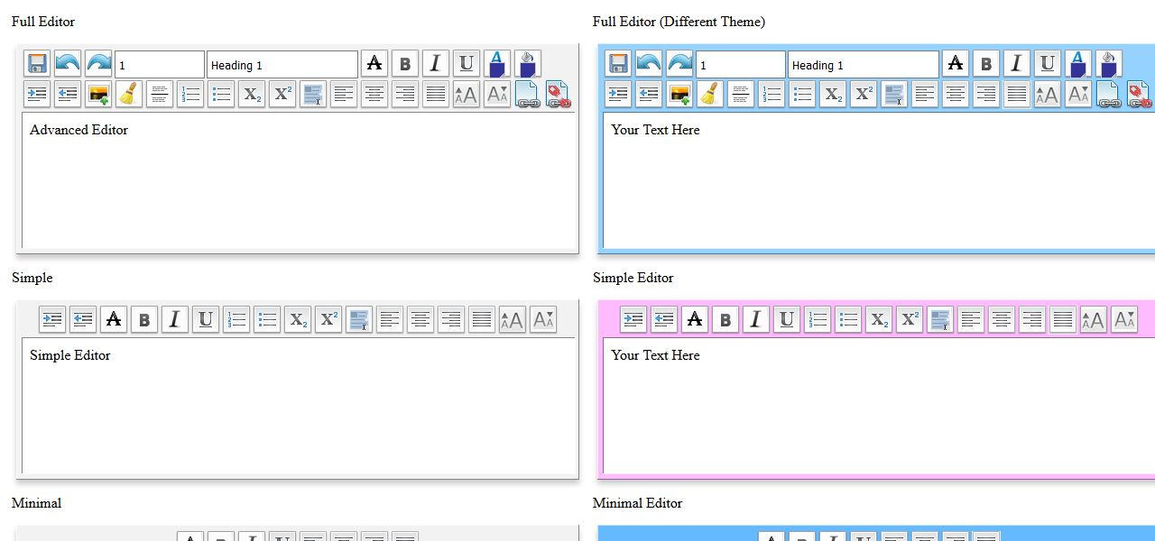 WYSIWYG Editor - Javascript Text Editor Screenshot 2