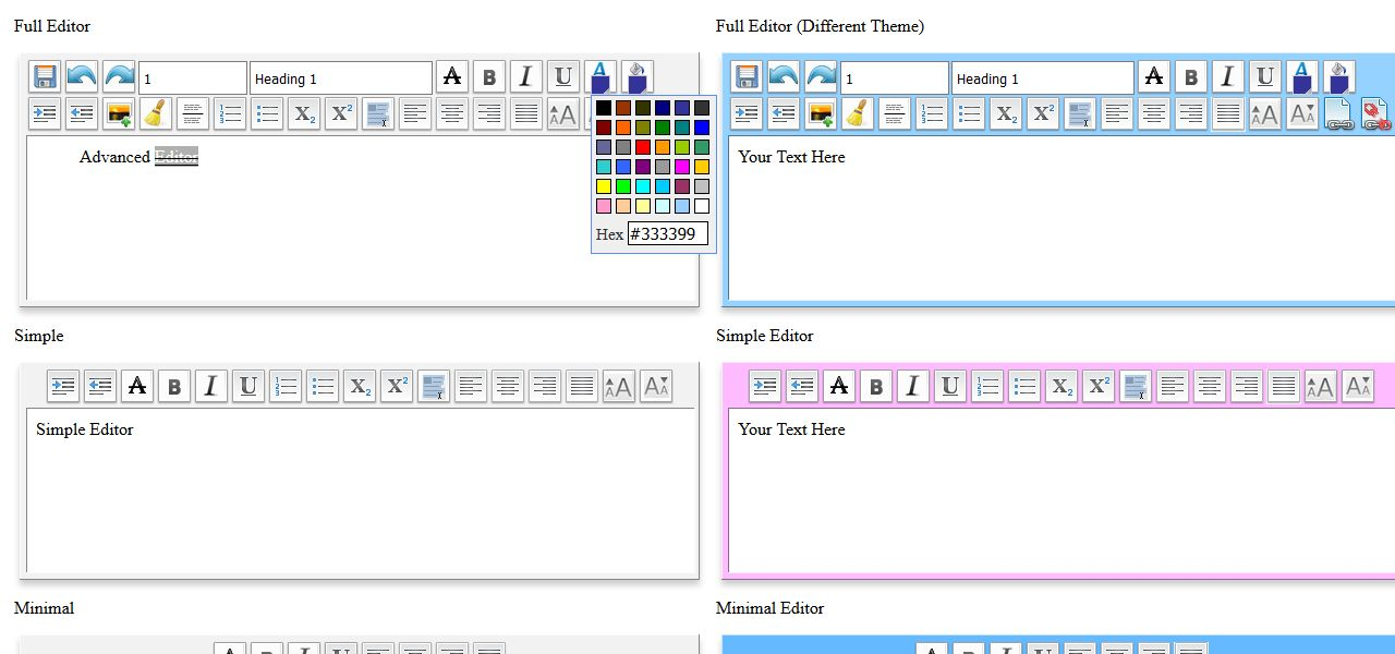 WYSIWYG Editor - Javascript Text Editor Screenshot 3