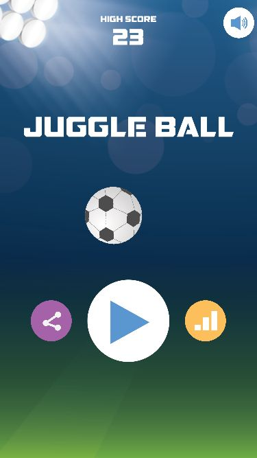 Juggle Ball - iOS Universal Game Source Code Screenshot 1
