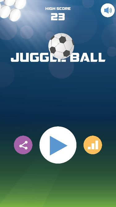Juggle Ball - iOS Universal Game Source Code Screenshot 2