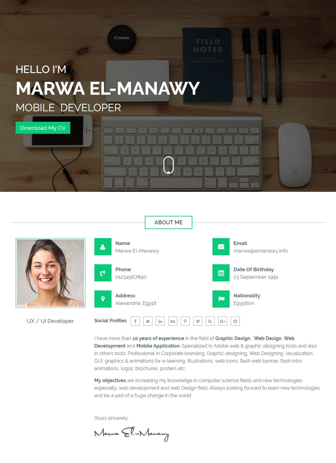 Moraco - Personal Vcard Resume Wordpress Theme Screenshot 1