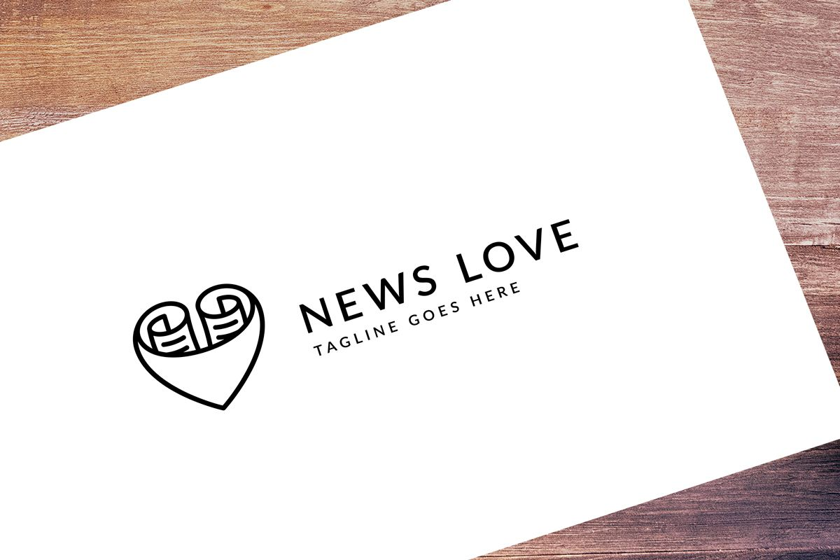 Love News - Logo Template Screenshot 1