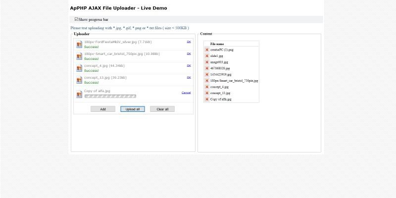 PHP AJAX Multiple File Uploader Script