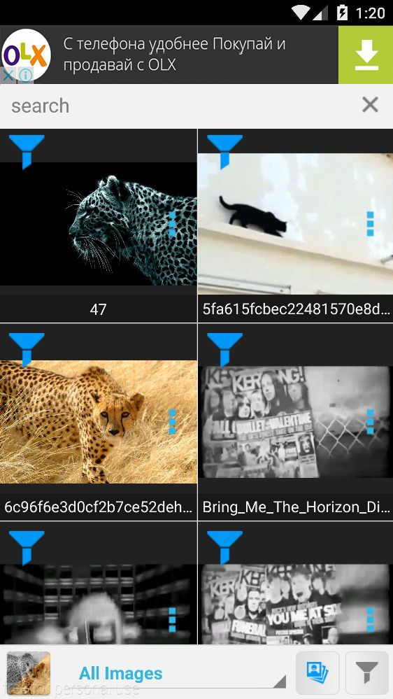 Image Filters - Android Source Code Screenshot 1