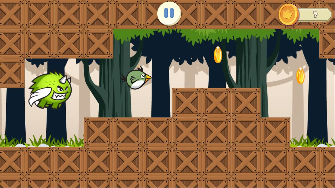 Jungle Flappy Bird - Android Source Code Screenshot 3