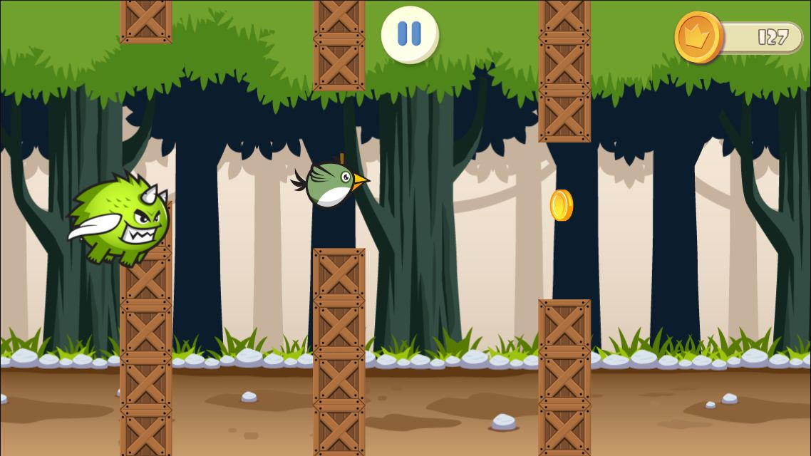 Jungle Flappy Bird - Android Source Code Screenshot 6