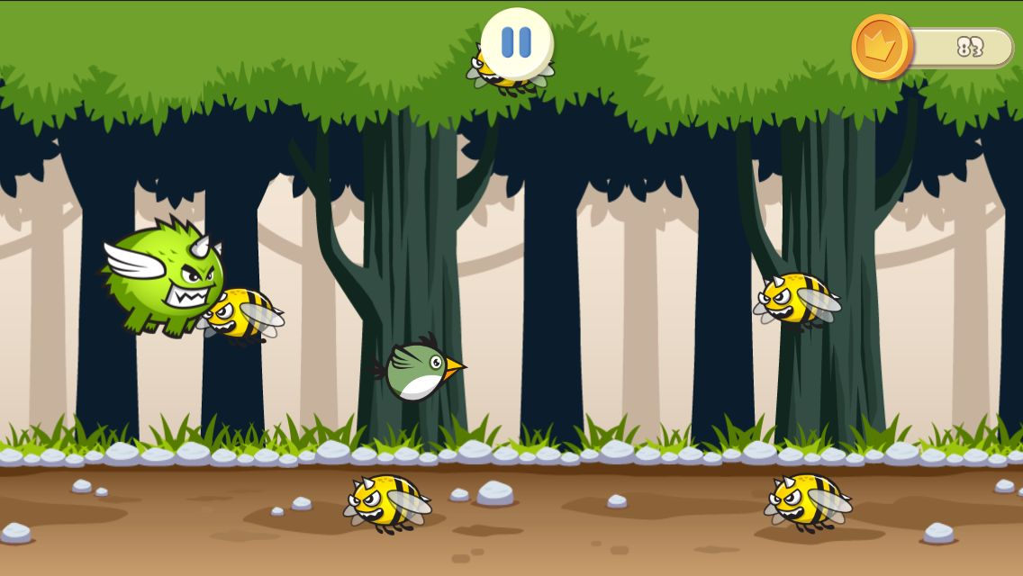 Jungle Flappy Bird - Android Source Code Screenshot 7