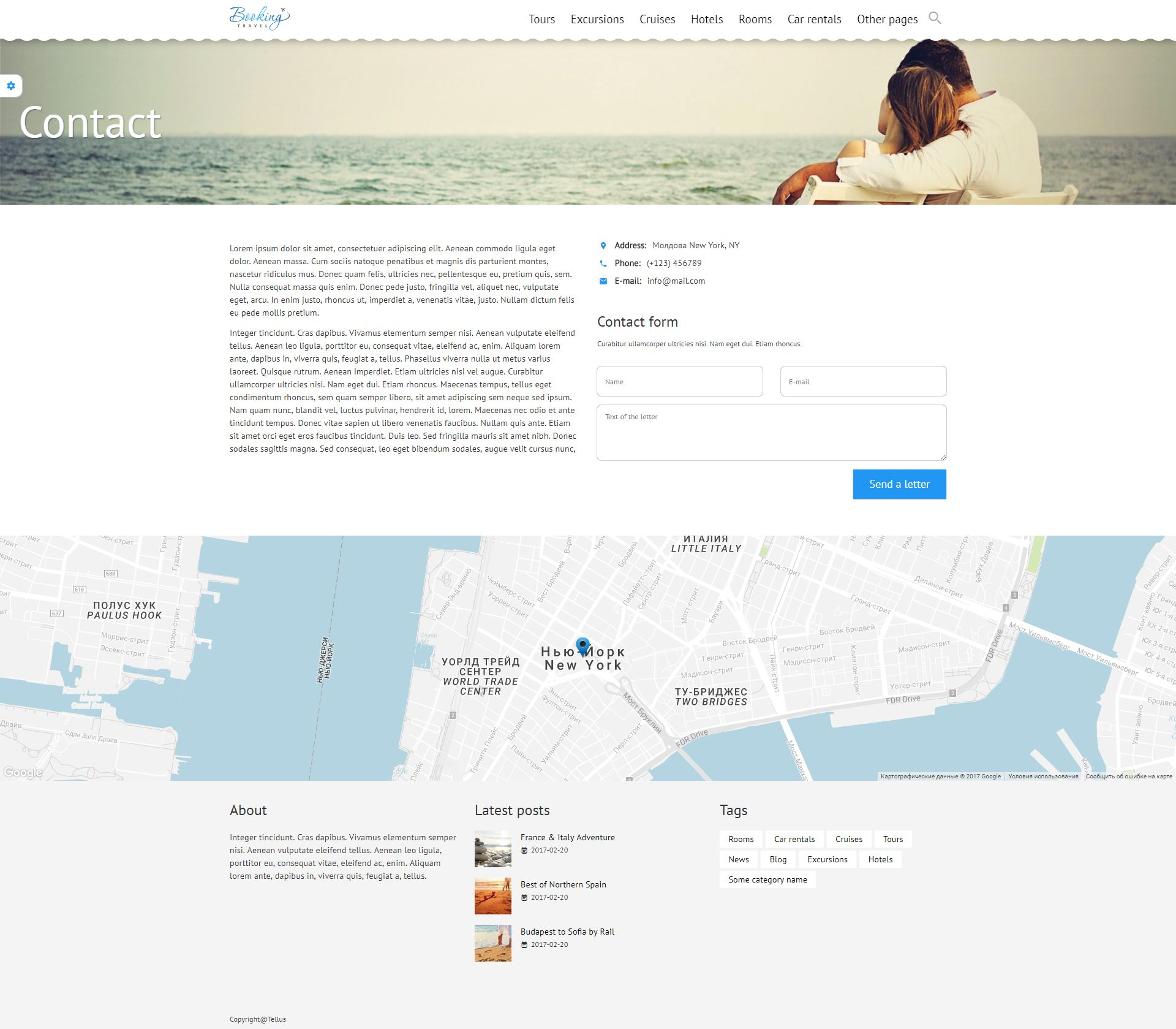 Booking Travel WordPress Theme Screenshot 3