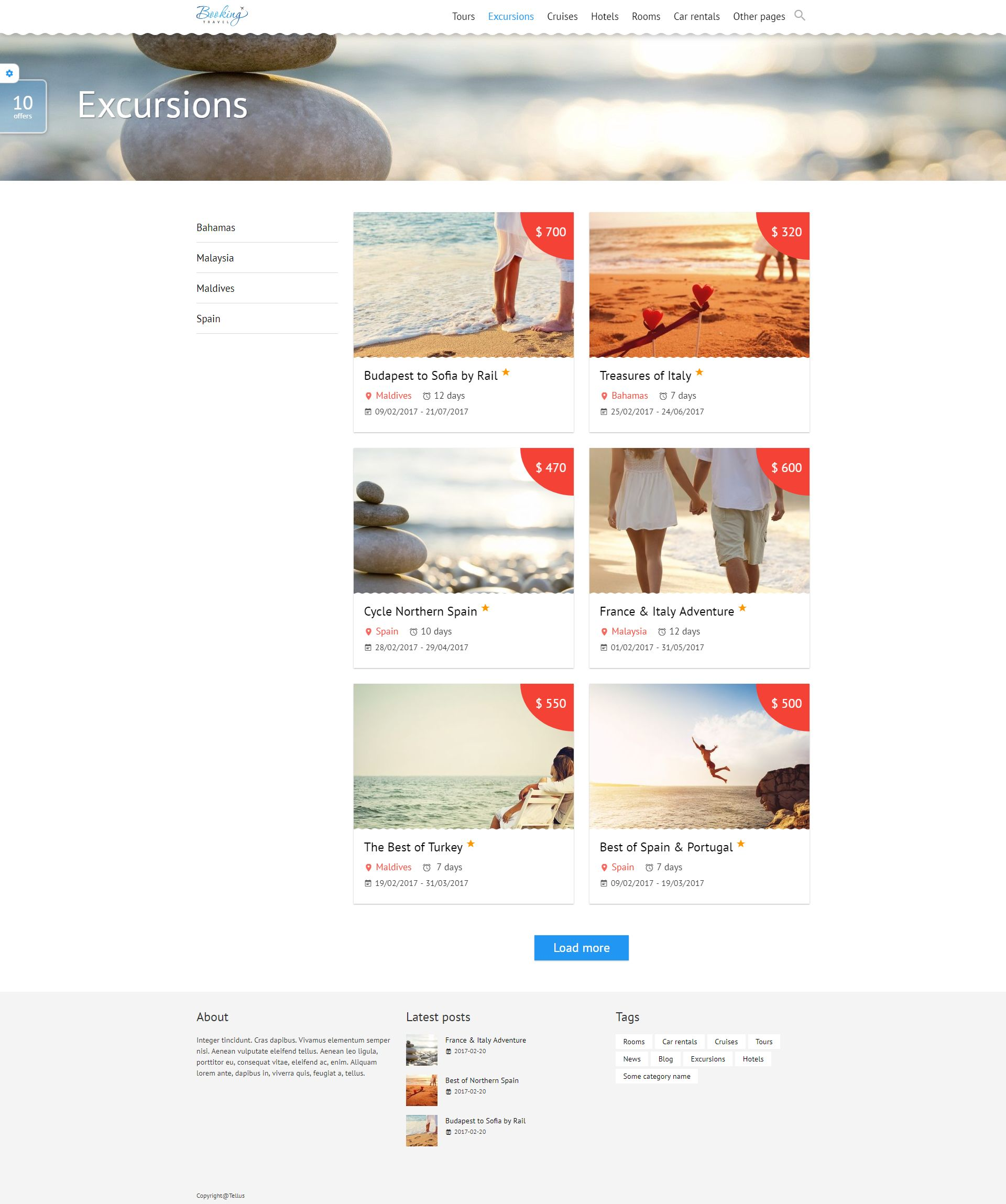 Booking Travel WordPress Theme Screenshot 5