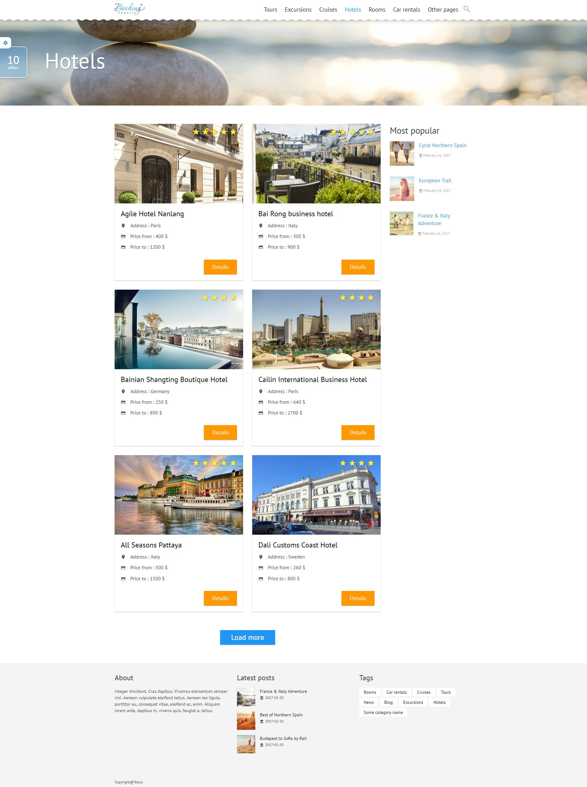 Booking Travel WordPress Theme Screenshot 7