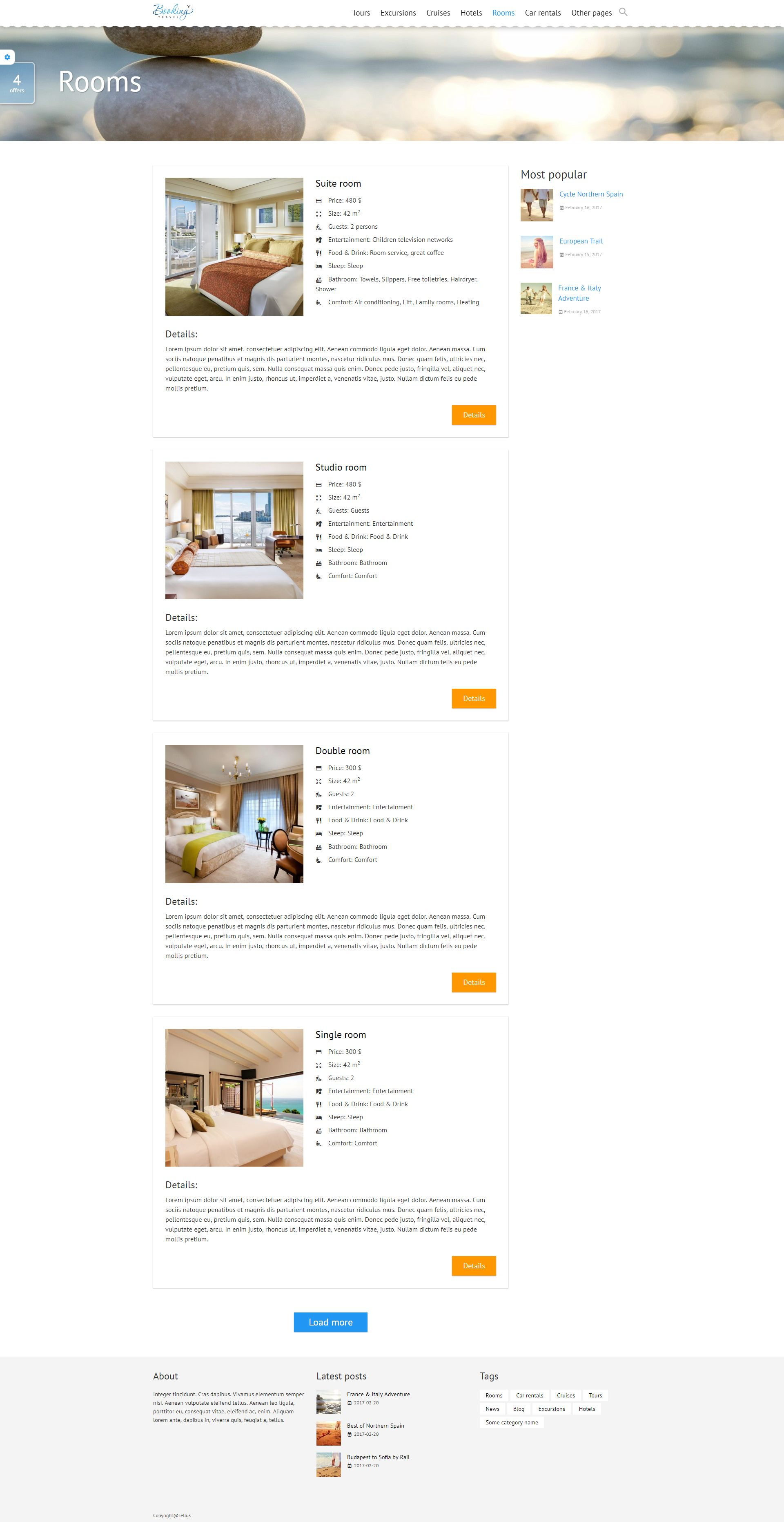 Booking Travel WordPress Theme Screenshot 10
