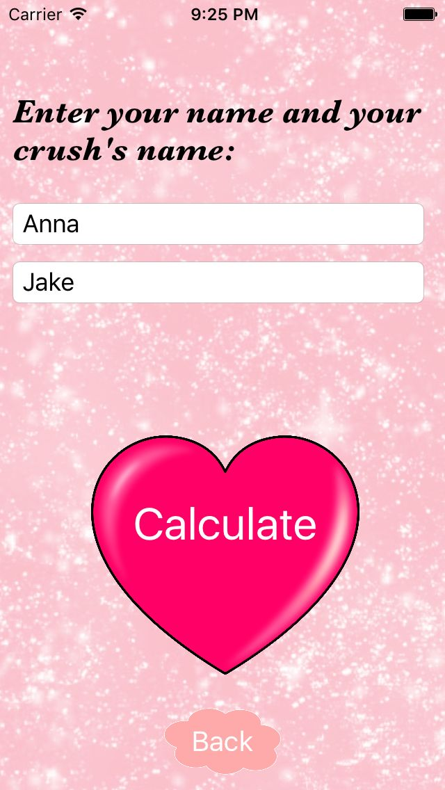 Love Calculator - iOS App Source Code Screenshot 2