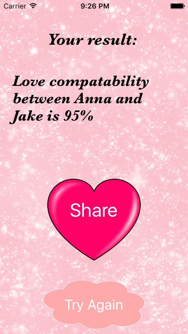 Love Calculator - iOS App Source Code Screenshot 3