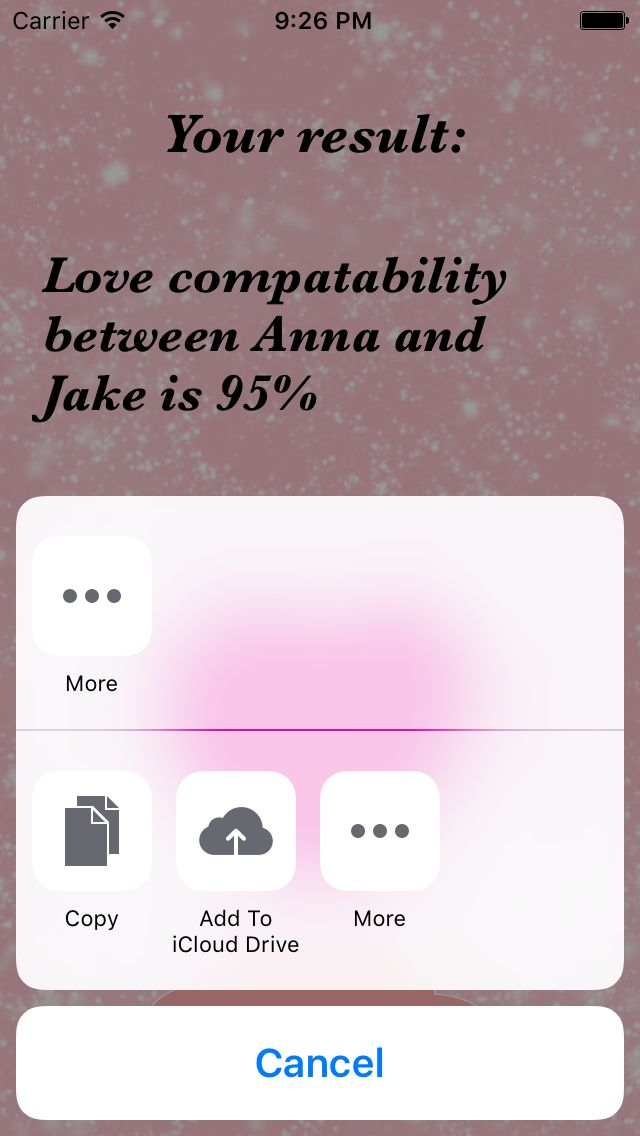 Love Calculator - iOS App Source Code Screenshot 4