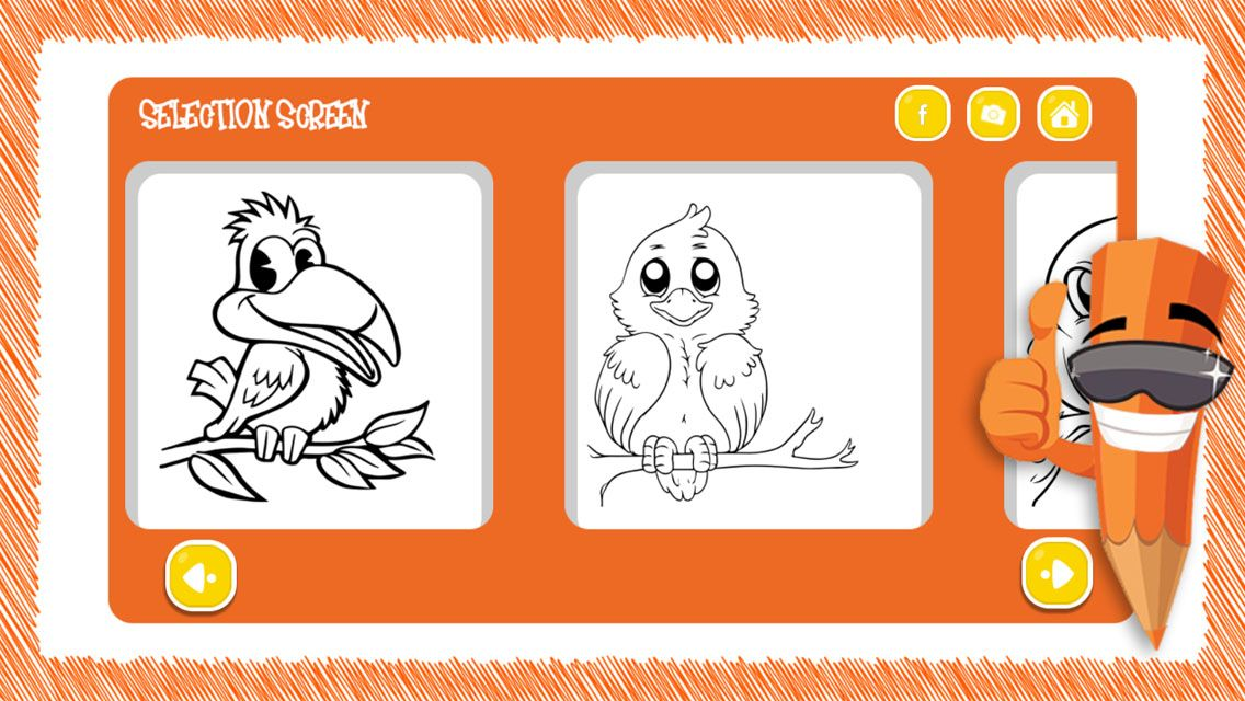 Birds Coloring Game