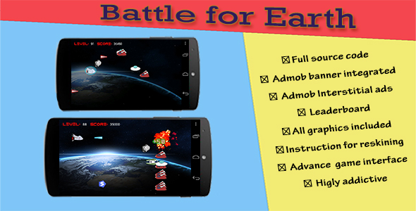 Battle for Earth - Android Game Source Code Screenshot 7