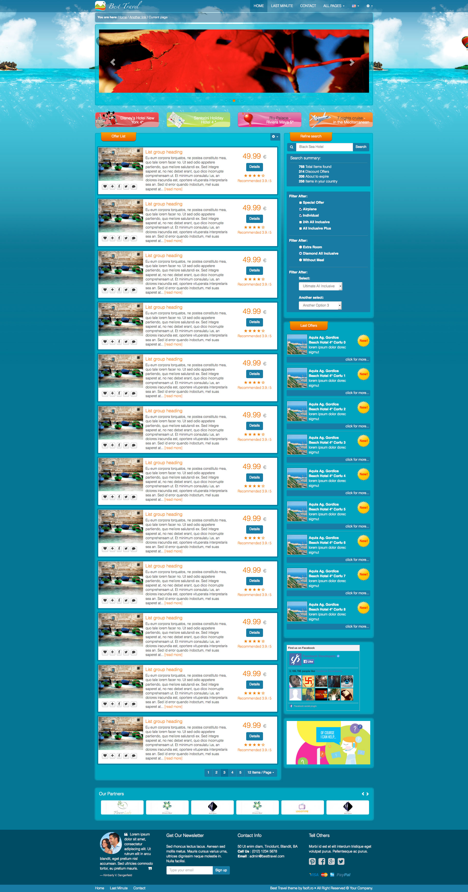 Best Travel - Bootstrap Responsive HTML Template - HTML Travel ...